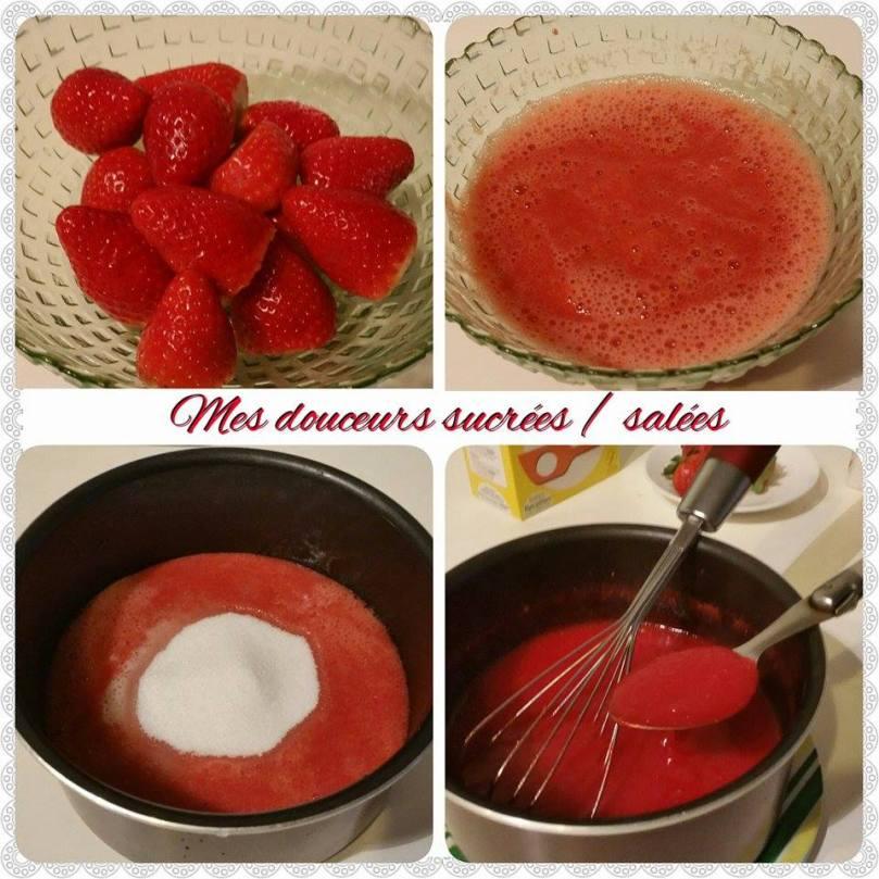 verrine coulis de fraise