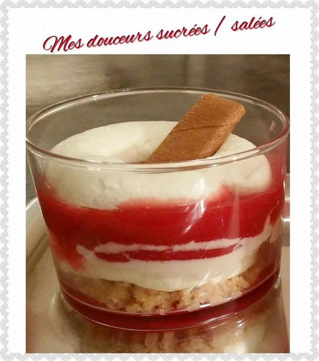 verrine fraise chantilly mascarpone