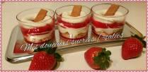 verrine fraise chantilly