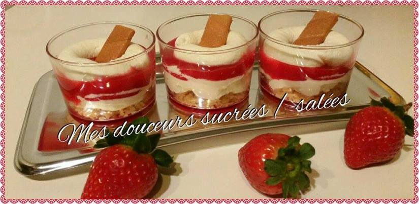 verrine fraise chantilly