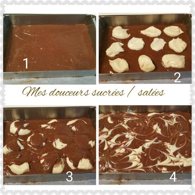 brownies cheesecake preparation
