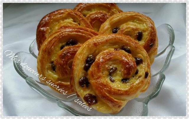Pains aux raisins escargot mes douceurs sucr es sal es - Pate a beignet avec levure de boulanger ...
