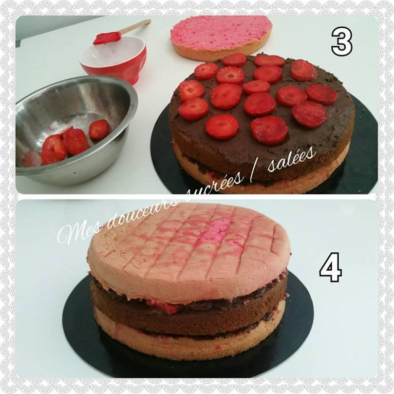 rose cake assemblage