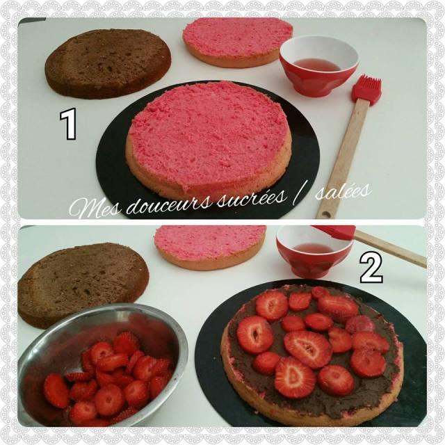 rose cake assemblages