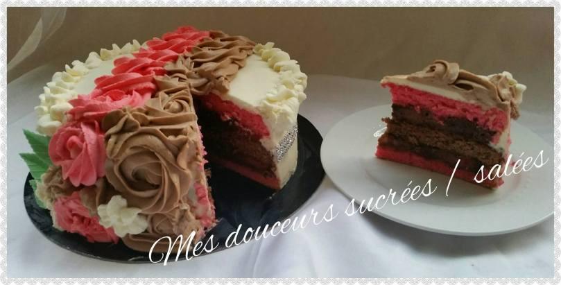 rose cake découpe