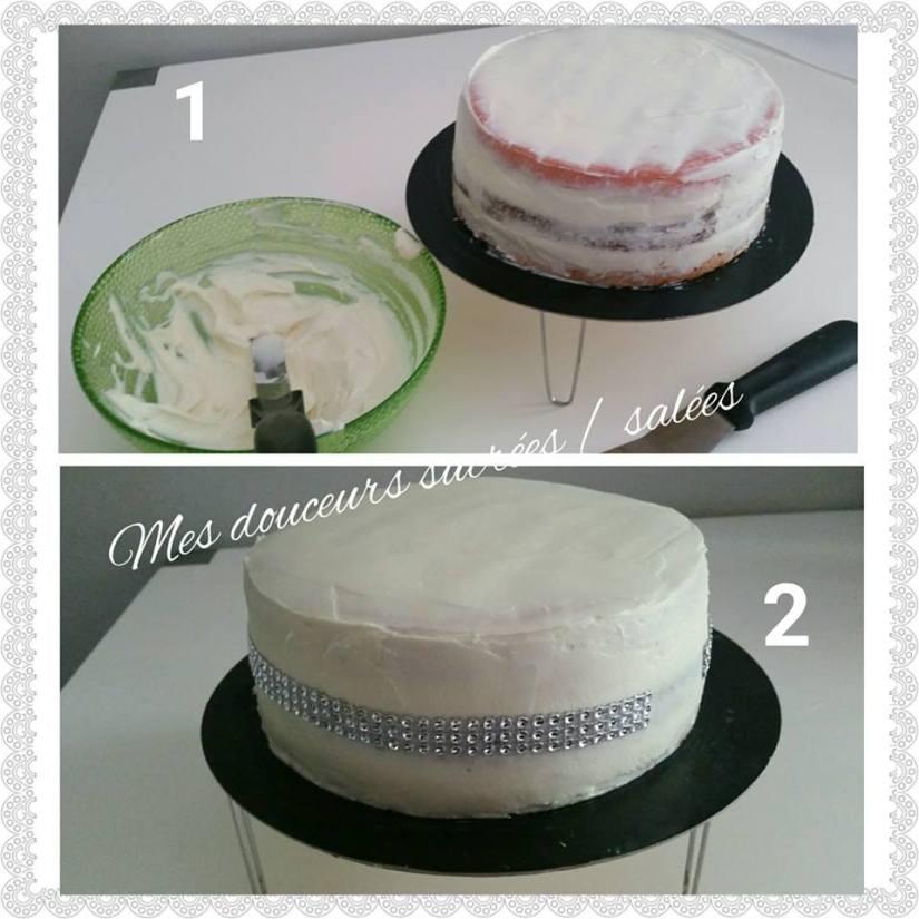 rose cake glacage