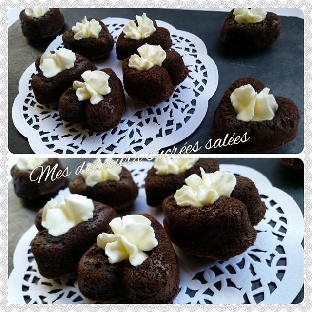 coeur en chocolat chantilly