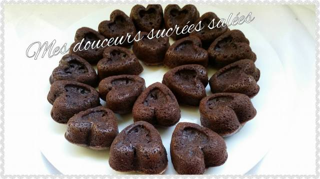 coeur en chocolat cuit