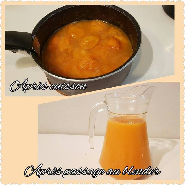 entremet abricot purée