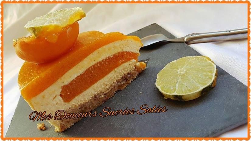 entremet abricots citron vert