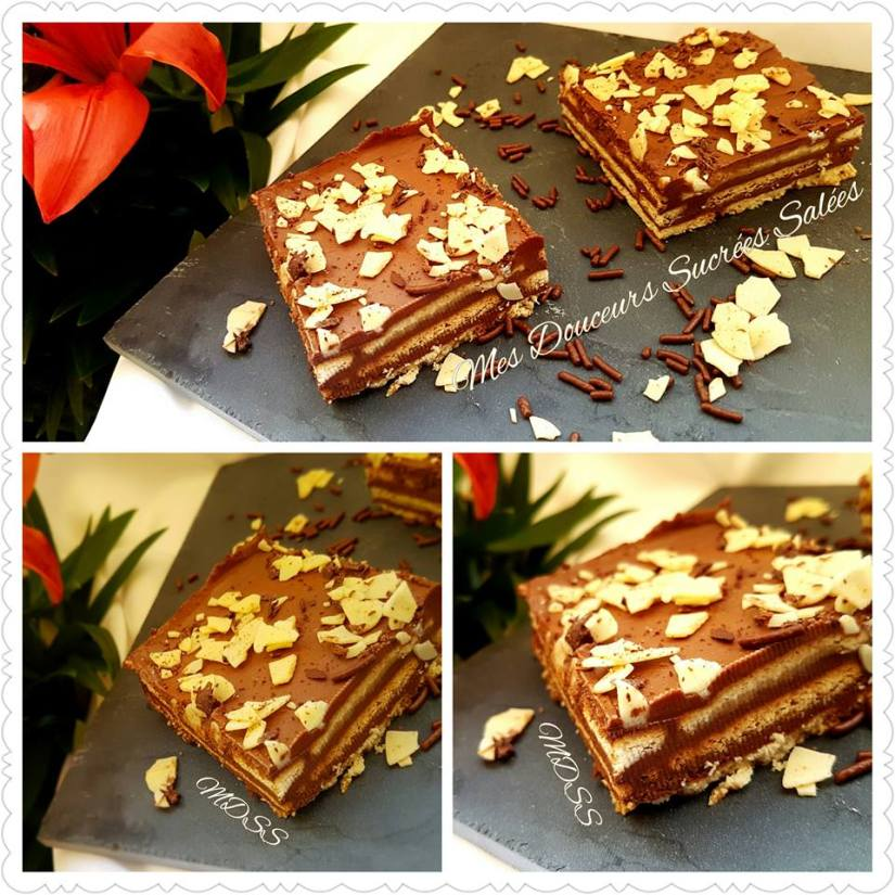 gateau biscuit the chocolat delicieux