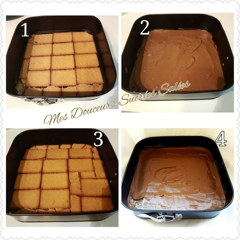 gateau biscuit the chocolat montage