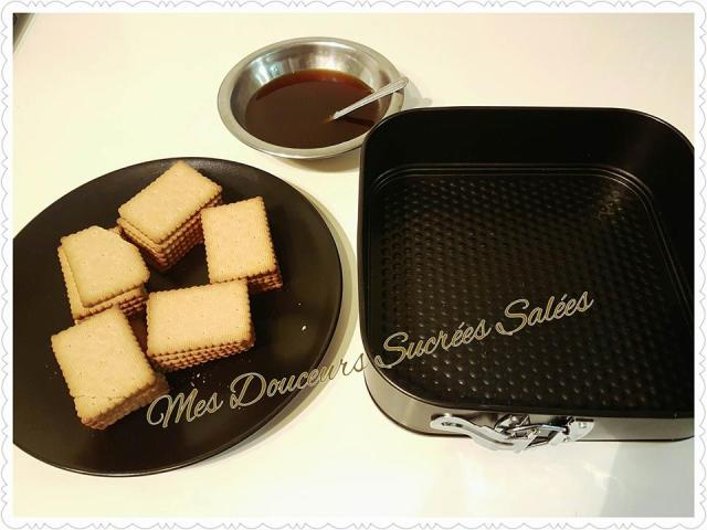 gateau biscuit the chocolat preparation