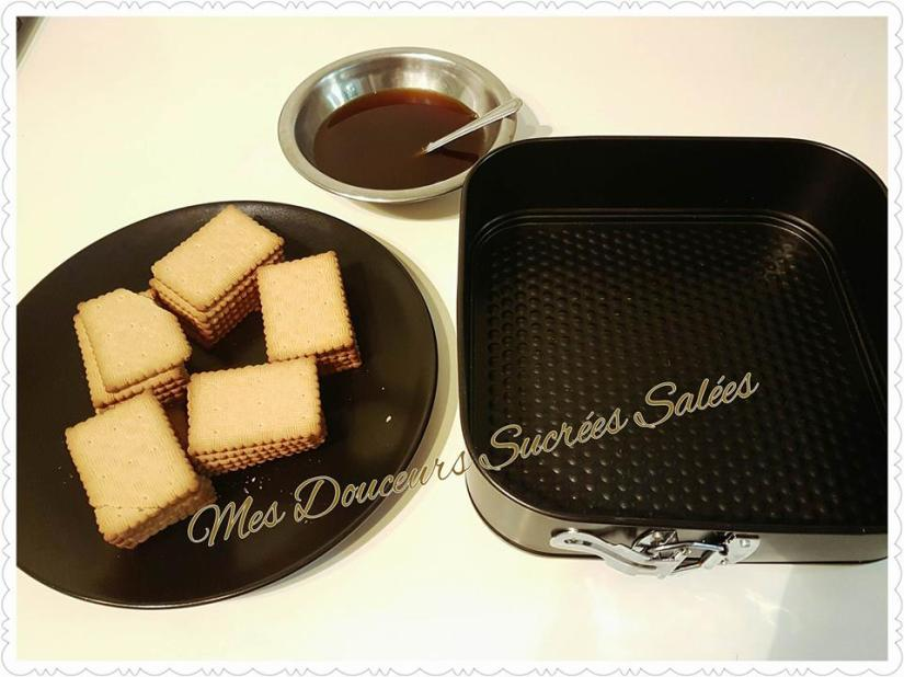 gateau biscuit the chocolat preparation