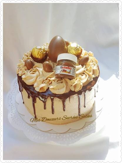 layer cake Nutella ferrero rocher