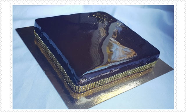 glacage miroir au chocolat