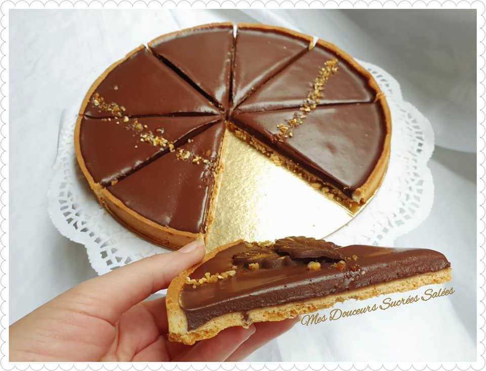 tarte au chocolat tendre