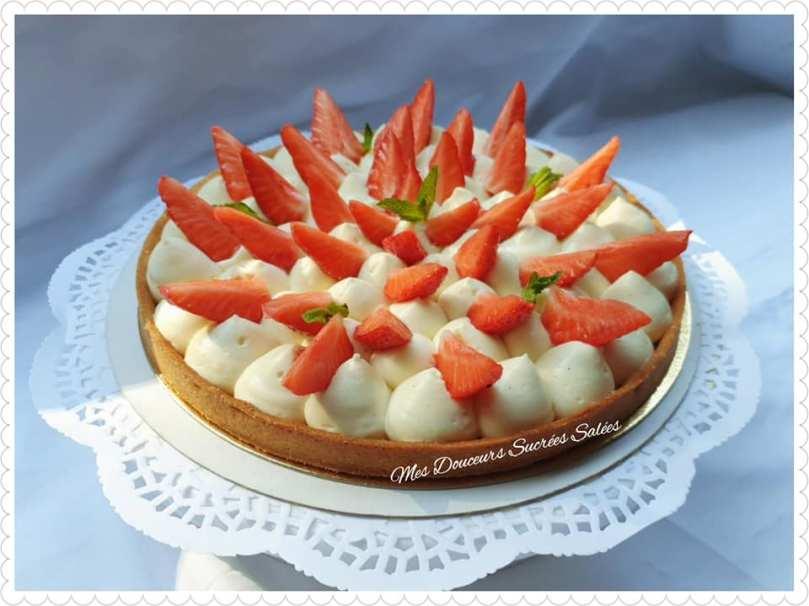 tarte aux fraises creme diplomate